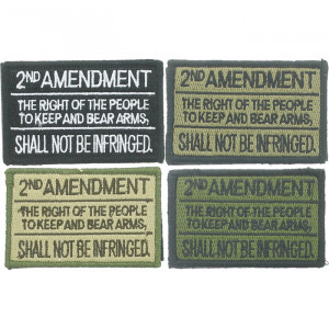 """2nd Amendment Shall Not Be Infringed Hook & Loop Morale Patch 3"""" x 2"""""""