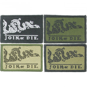 "Join Or Die Snake Ben Franklin Revolutionary War Morale Patch 3"" x 2"""