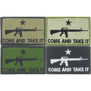 "Come And Take It ★ M16 Rifle Morale Hook Patch 3"" x 2"""