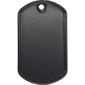 Black Stainless Steel ID Tag Military Style Dog Tag
