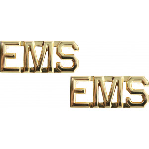 Polished Gold Emergency Medical Services EMS Insignia Pin Set 3/8""