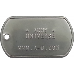 Matte Custom Embossed Stainless Steel ID Tag Military Style Dog Tag
