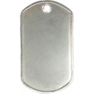 Matte Stainless Steel ID Tag Military Style Dog Tag