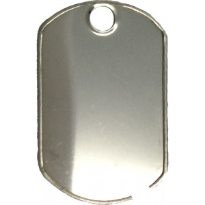 Shiny Notched Stainless Steel ID Tag Military Style Dog Tag
