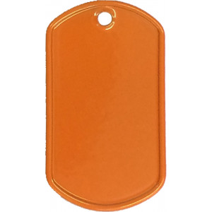 Orange Stainless Steel ID Tag Military Style Dog Tag
