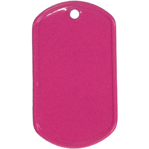 Hot Pink Stainless Steel ID Tag Military Style Dog Tag
