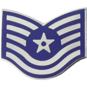 "US Air Force E6 Technical Sergeant USAF Rank Insignia Pin 1"" x 3/4"""
