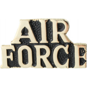"Polished Gold Clutch Back Air Force Insignia Pin 1"" x 3/8"""