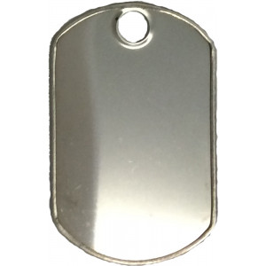 Shiny Stainless Steel ID Tag Military Style Dog Tag