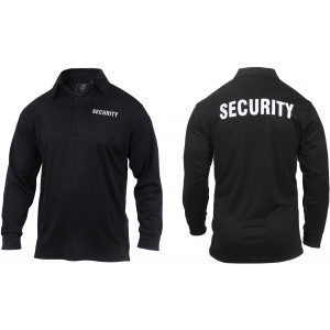 Moisture Wicking Long Sleeve Security Polo