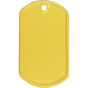 Yellow Stainless Steel ID Tag Military Style Dog Tag