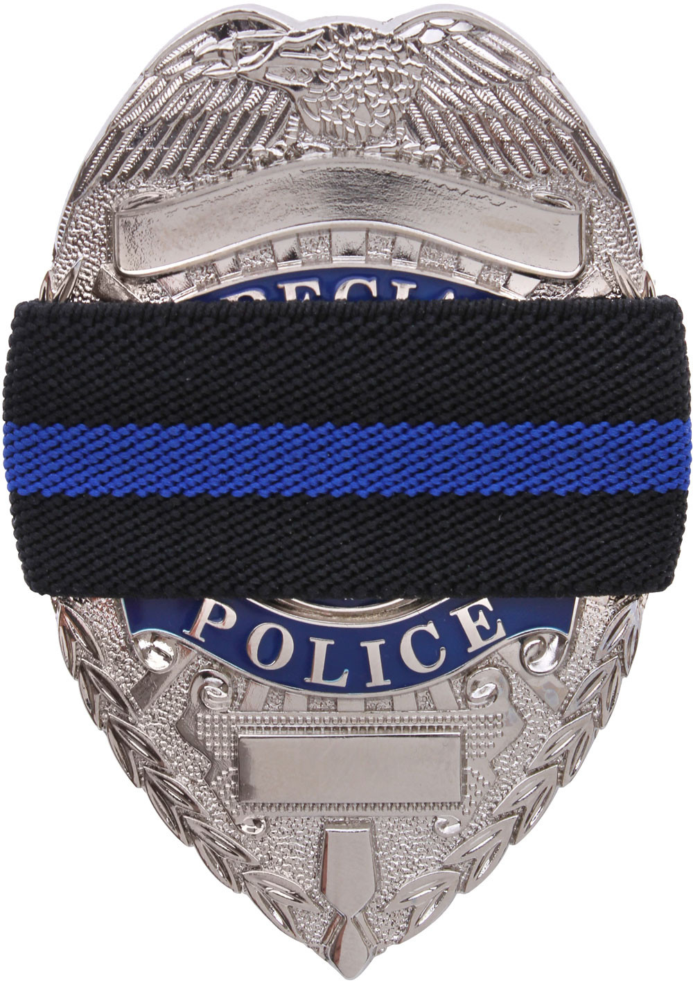 Black Thin Blue Line Support The Police Badge Mourning Band 9ff8f82dd00