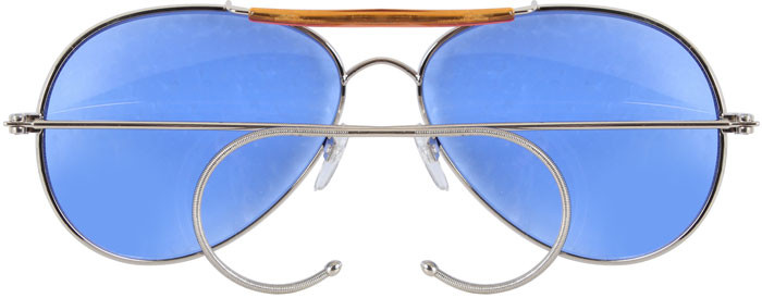 Blue Lenses Military Air Force Aviator Sunglasses c1d3200b06d