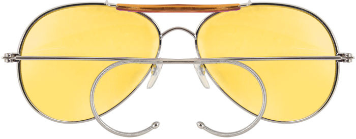 Yellow Lenses Military Air Force Aviator Sunglasses 064697889
