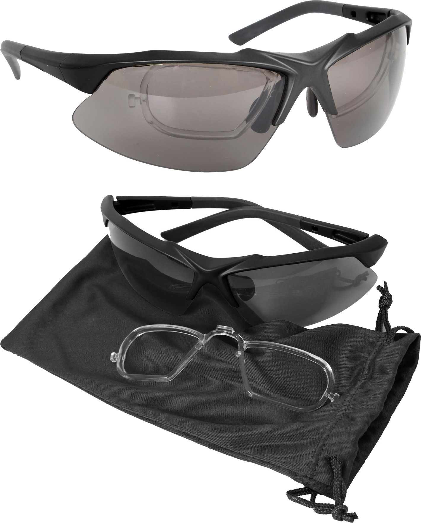 1be58928802 Smoke Lens Tactical Ballistic Eyewear Kit With Prescription Lens Holder