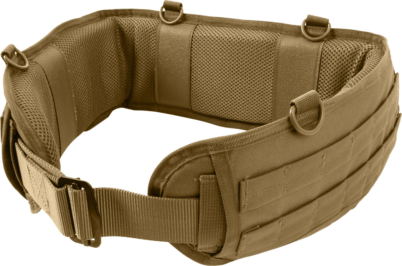 Coyote Brown Padded Tactical MOLLE Battle Belt 4e7bb54a64e