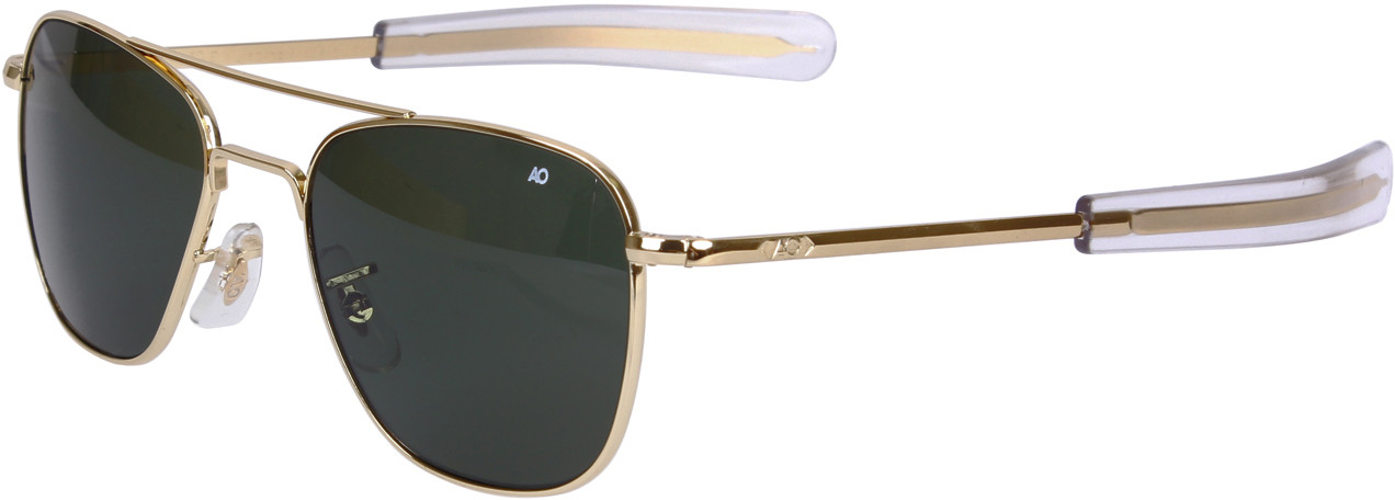 AO Eyewear Polarized Gold Genuine GI 52mm Aviator Air Force ... e3929468913