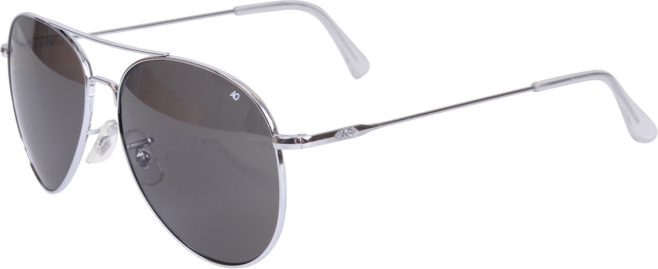 AO Eyewear Silver Genuine GI 58mm Aviator Pilot Sunglasses with Wire  Spatula Temples cc0d2b42519