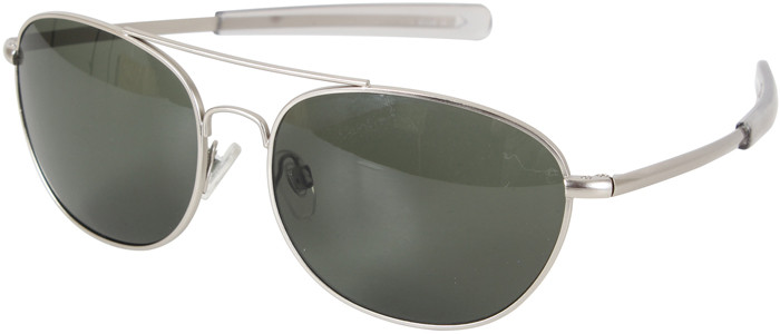 Matte Frame Military 58mm Pilots Aviator Sunglasses With Smoke Lenses dd0bf0b6503