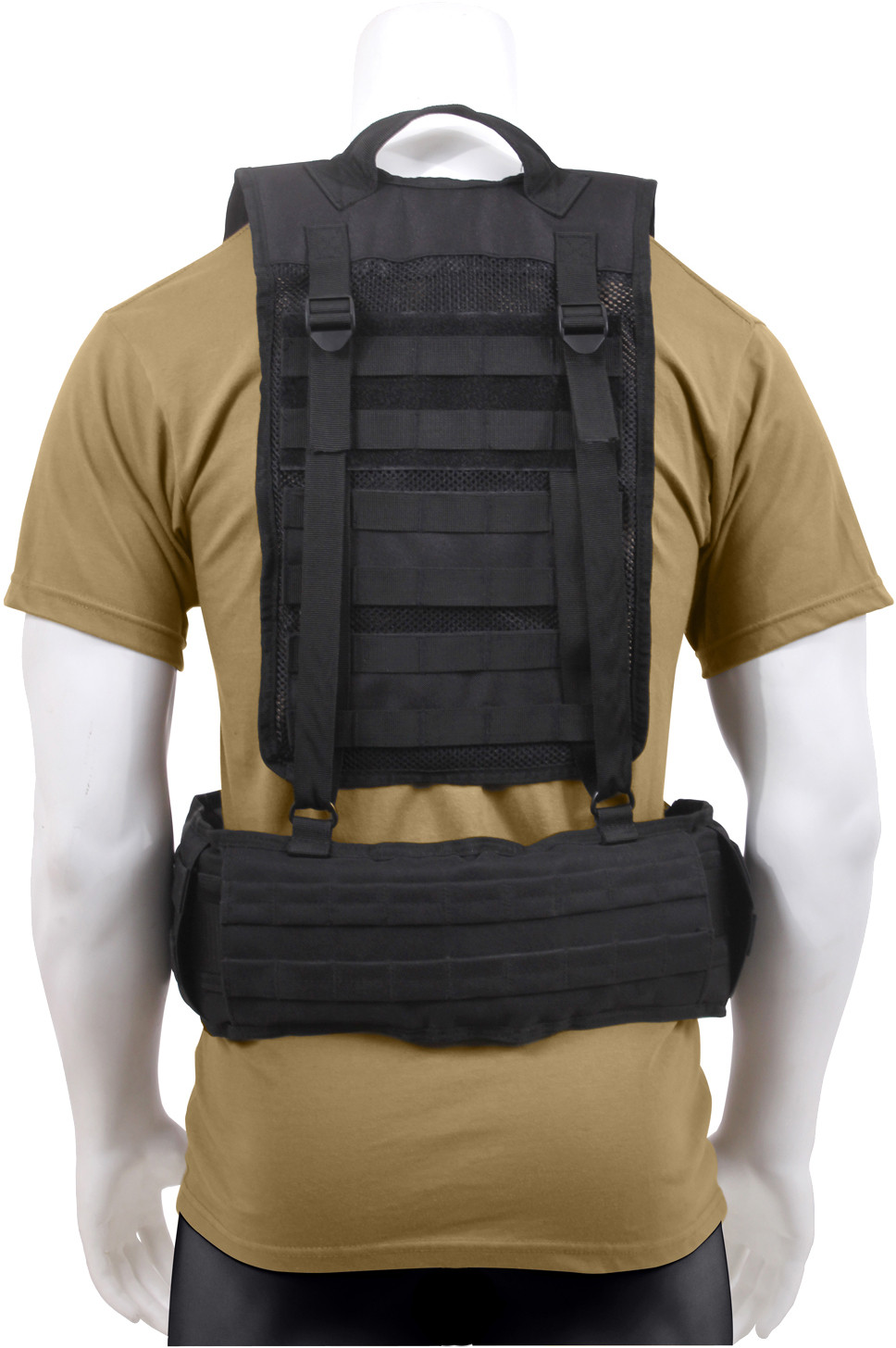 ... Black Military MOLLE Battle Belt Load Bearing Tactical Police Harness  ... 55c34b1af33