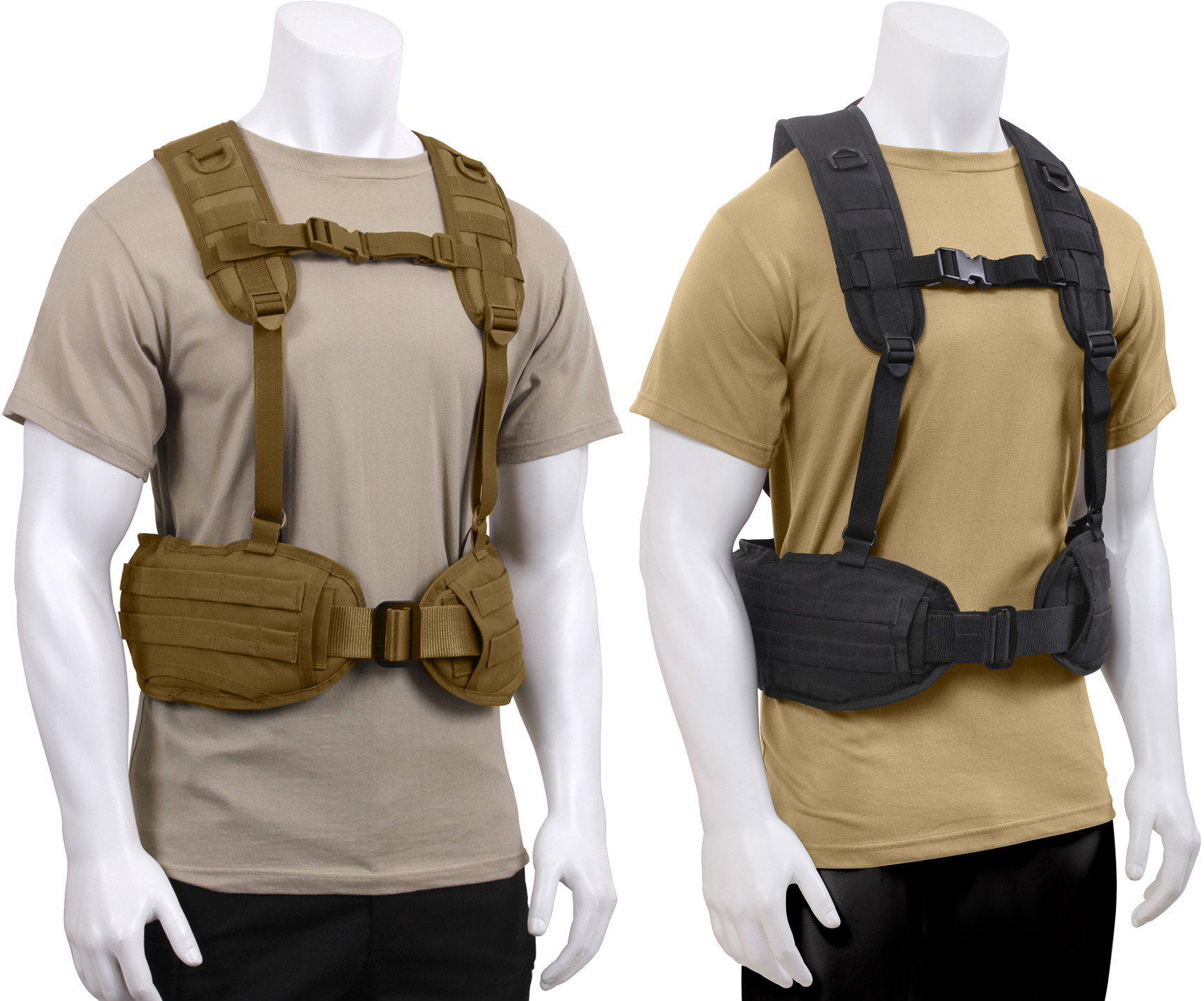 Military MOLLE Battle Belt Load Bearing Tactical Police Harness d6e9ba598ca
