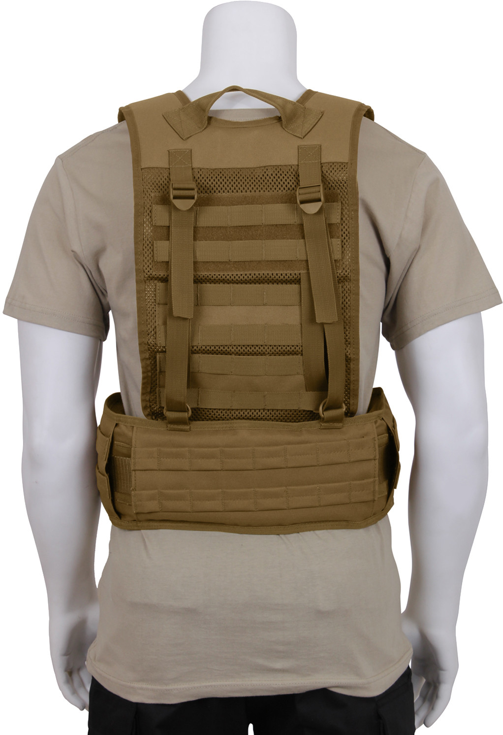 ... Coyote Brown Military MOLLE Battle Belt Load Bearing Tactical Police  Harness 0684c46ee50