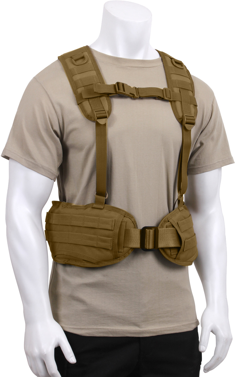 ... Coyote BrownMilitary MOLLE Battle Belt Load Bearing Tactical Police  Harness ... ac280235f84