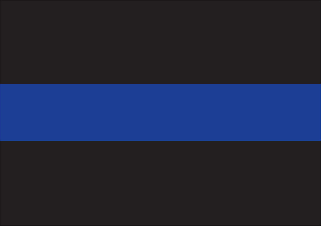 Thin Blue Line Decal 3
