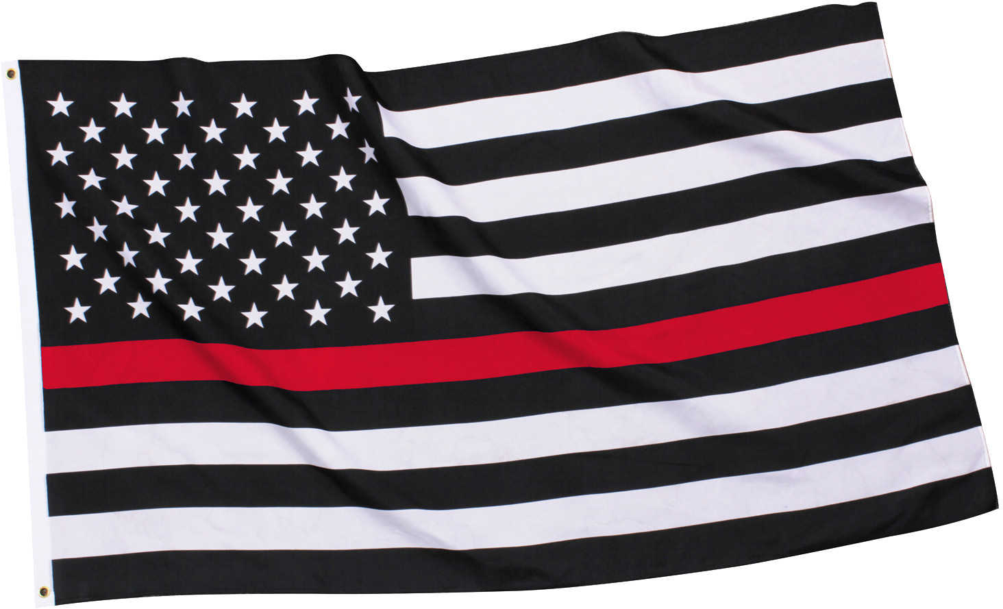 Subdued Thin Red Line Flag Support Firefighters American Flag 3  x 5  5603f22ee