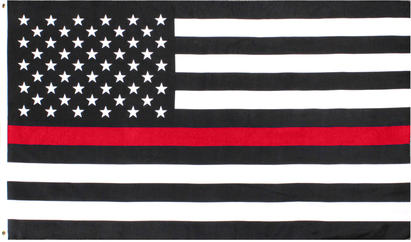 Subdued Thin Red Line Flag Support Firefighters American Flag 3  x 5  20865007774
