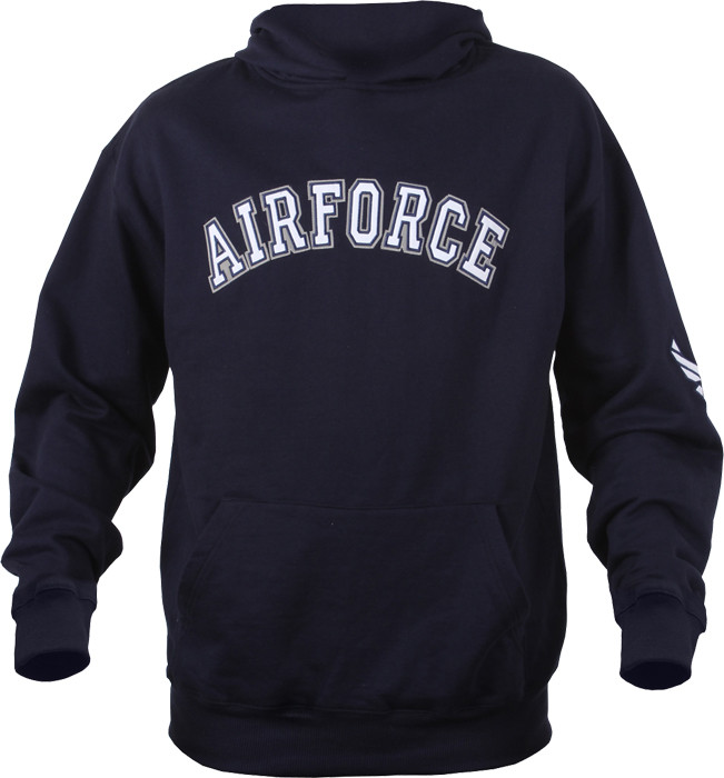 Navy Blue USAF Air Force Pullover Hooded Sweatshirt 3b4a7d5dcb2