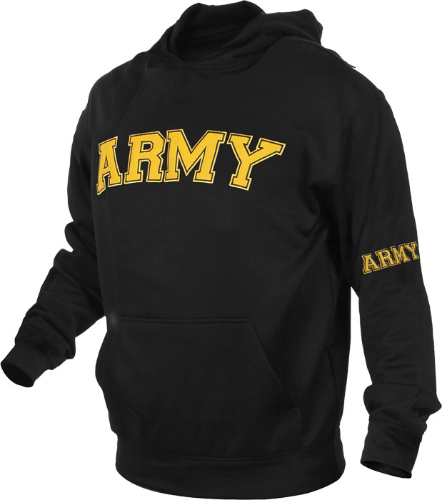 Black Military Air Force Pullover Warm Fleece Hooded Sweatshirt c0f75c8d96b