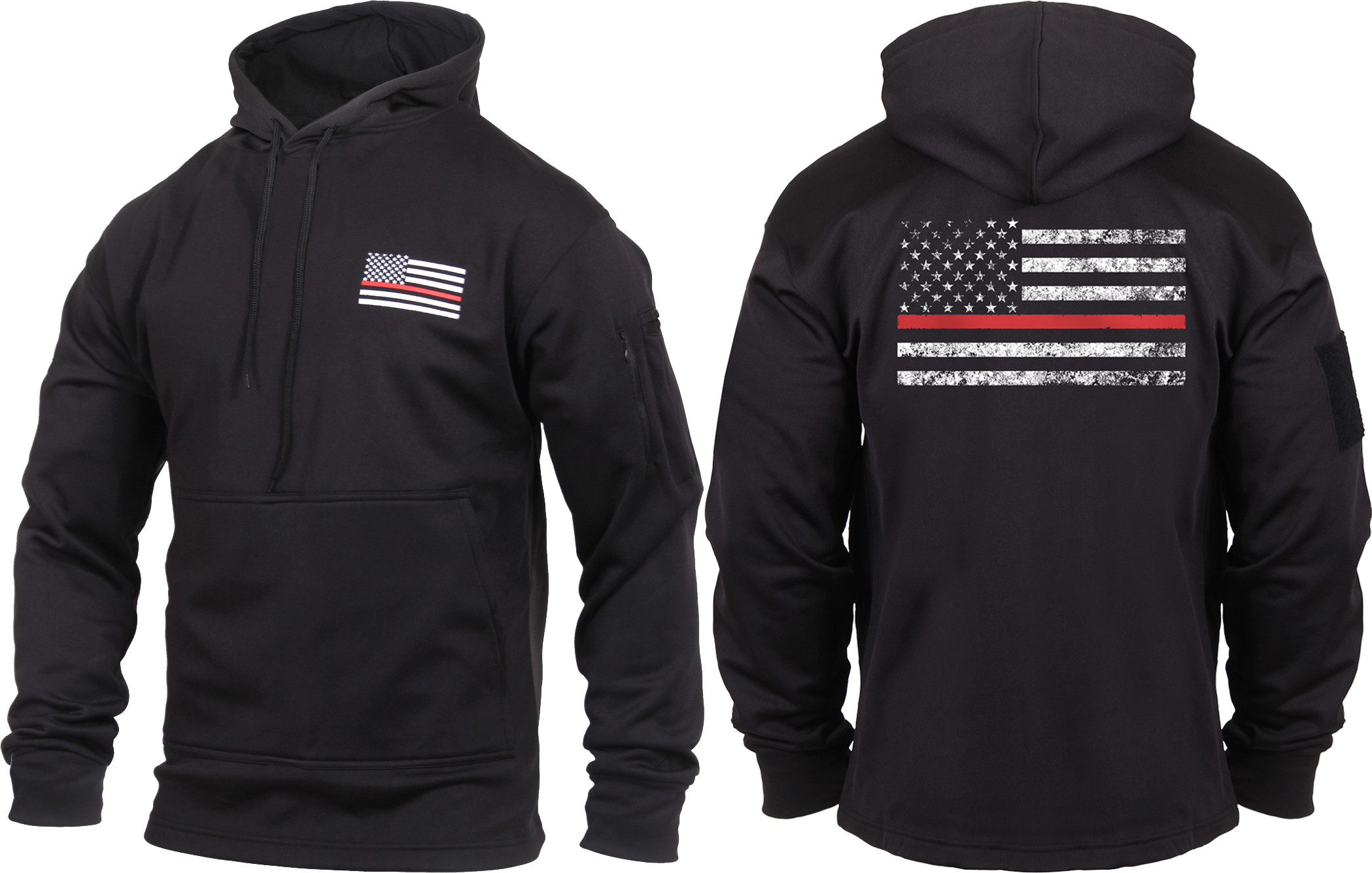Black Concealed Carry Subdued Thin Red Line Hoodie Sweatshirt 8d77745fd0c