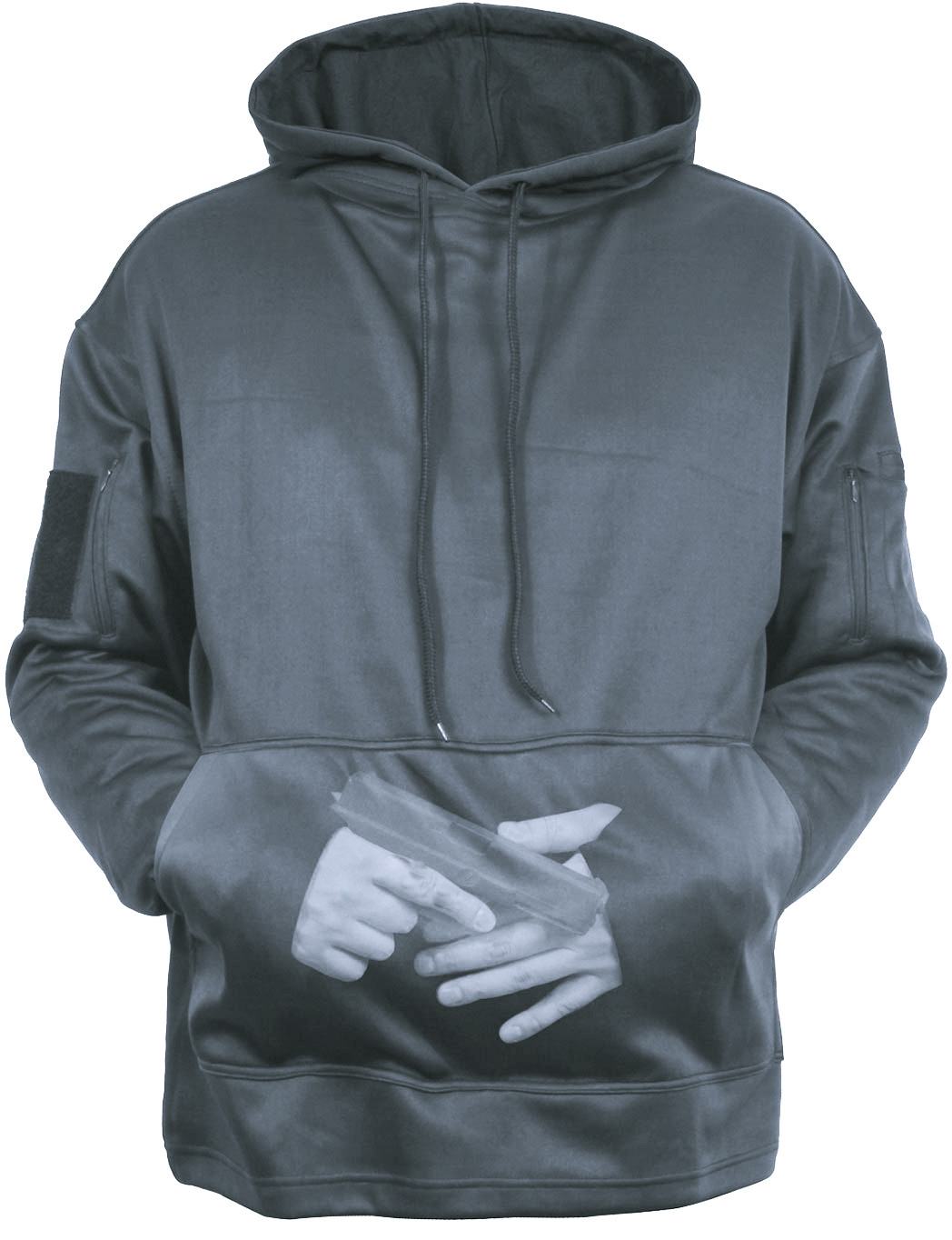 Gun Metal Grey Concealed Carry Tactical Hooded Sweatshirt 2bfe0c2119c