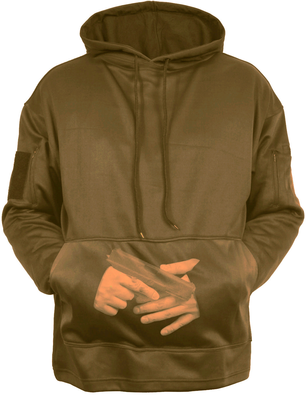 More Views. Coyote Brown Concealed Carry Tactical Hooded Sweatshirt ... 05a9fbcded0