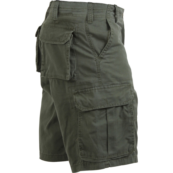Mens Olive Drab Military Vintage Army Paratrooper Shorts Cargo Shorts
