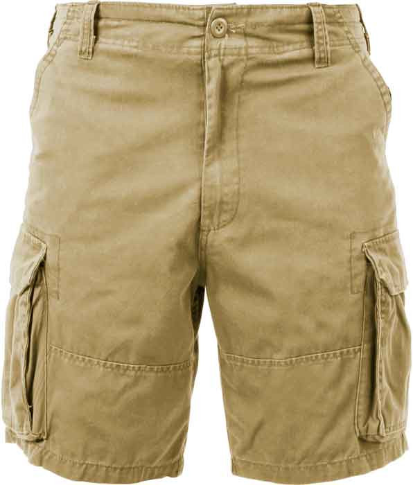 969a0eb8c7 More Views. Khaki Vintage Military Paratrooper Cargo Shorts ...