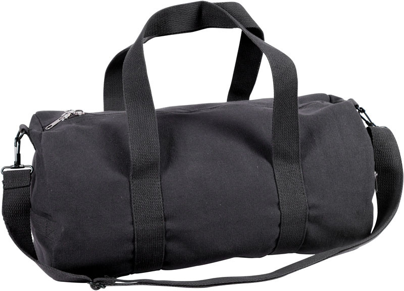 Black Canvas Sports Gym Duffle Shoulder Carry Bag   Strap 7dfbb6b9d8a