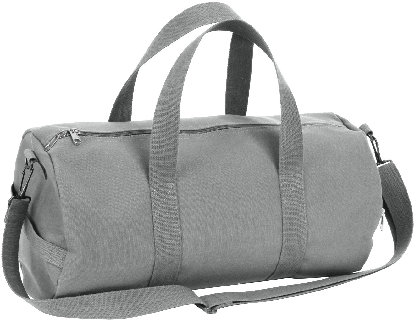 Grey Canvas Sports Gym Duffle Shoulder Carry Bag 33c0f4974e2