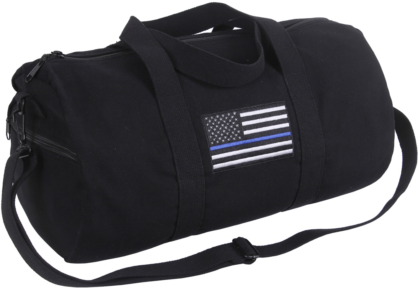 Thin Blue Line Canvas Shoulder Duffle Bag 8405633fd06