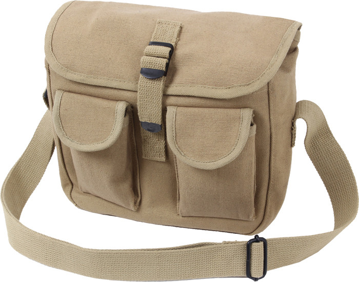 More Views. Khaki Military Canvas 2 Pocket Ammo Shoulder Bag ... cc0282868bd