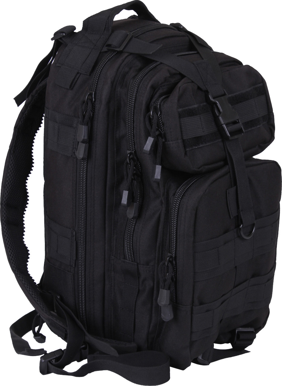 Black MOLLE Medium Transport Pack Convertible To Sling Backpack aac715b89d5