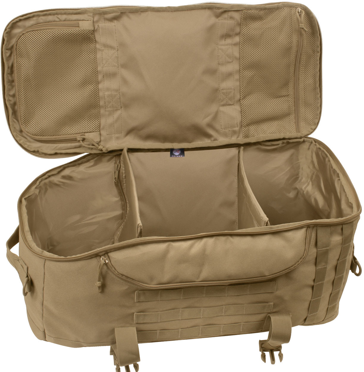 Coyote Brown Multi Functional Convertible 3 In 1 Mission Duffle Bag 7d35f9fb604