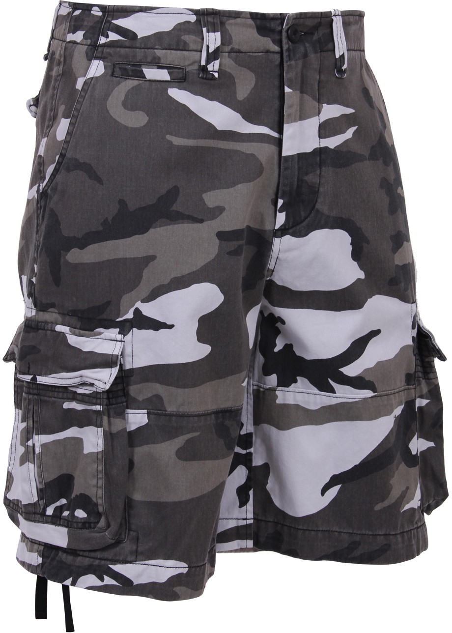 City Camouflage Vintage Military Infantry Utility Shorts a223df06ce9