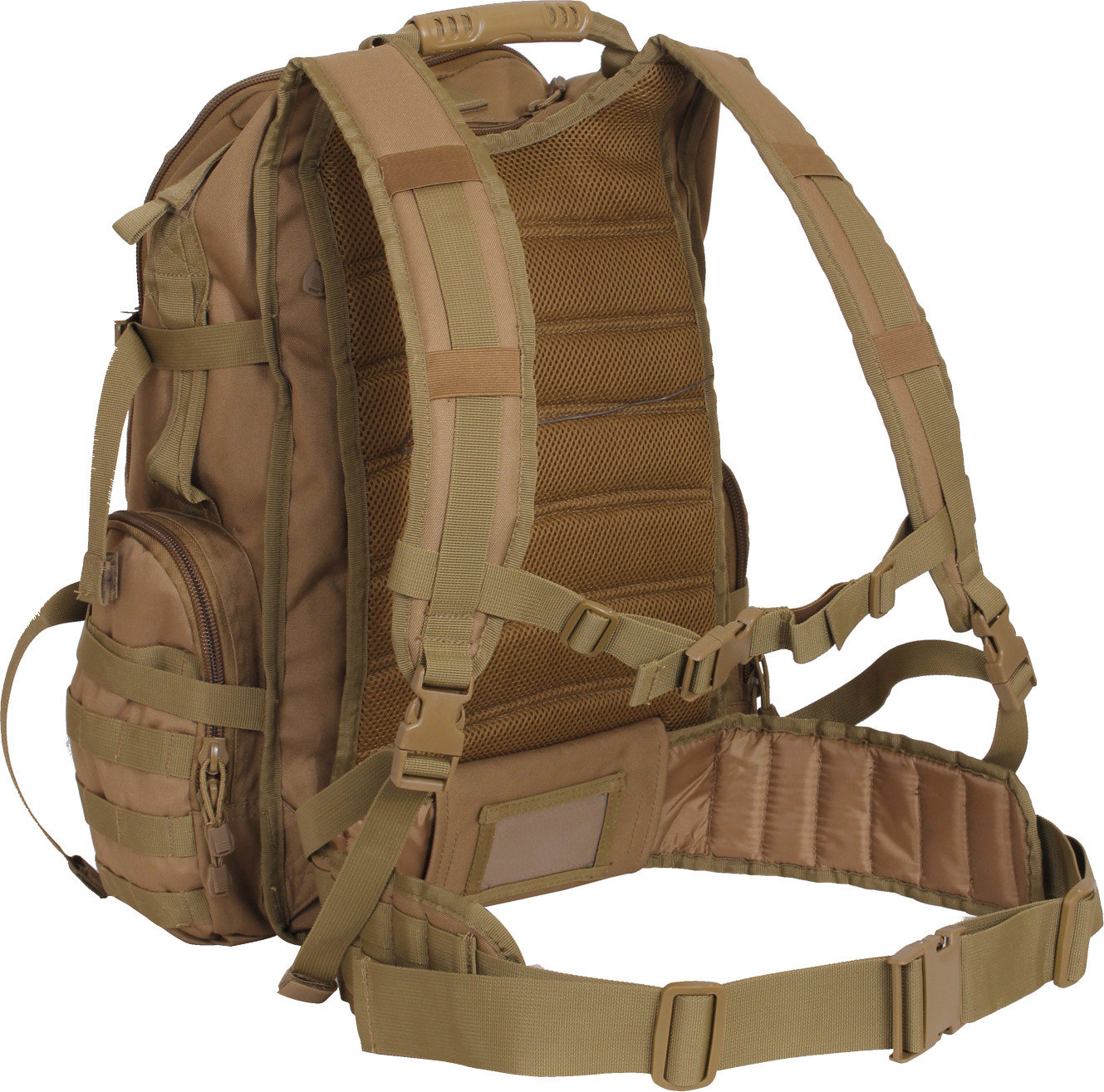 Coyote Brown Multi Chamber Molle Assault Pack