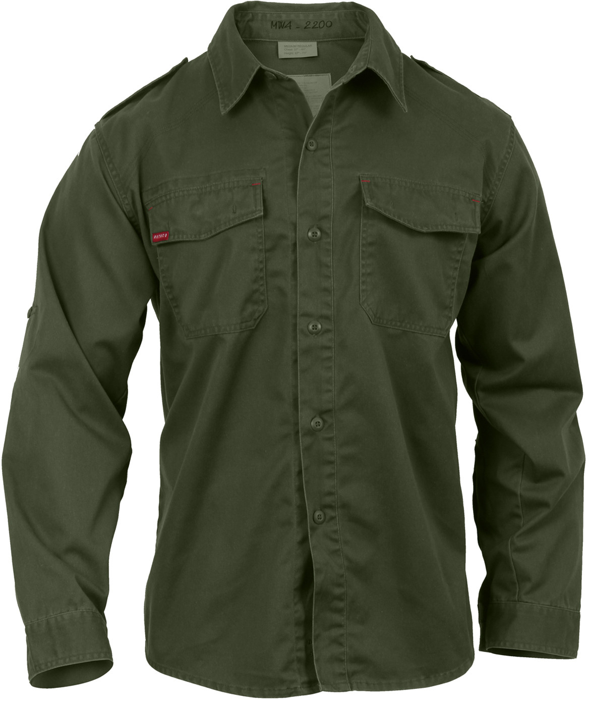 3d00499998c Olive Drab Vintage Style Military BDU Shirt