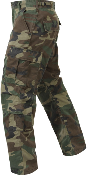 Woodland Camouflage Vintage Military Paratrooper BDU Pants 0880e16f872