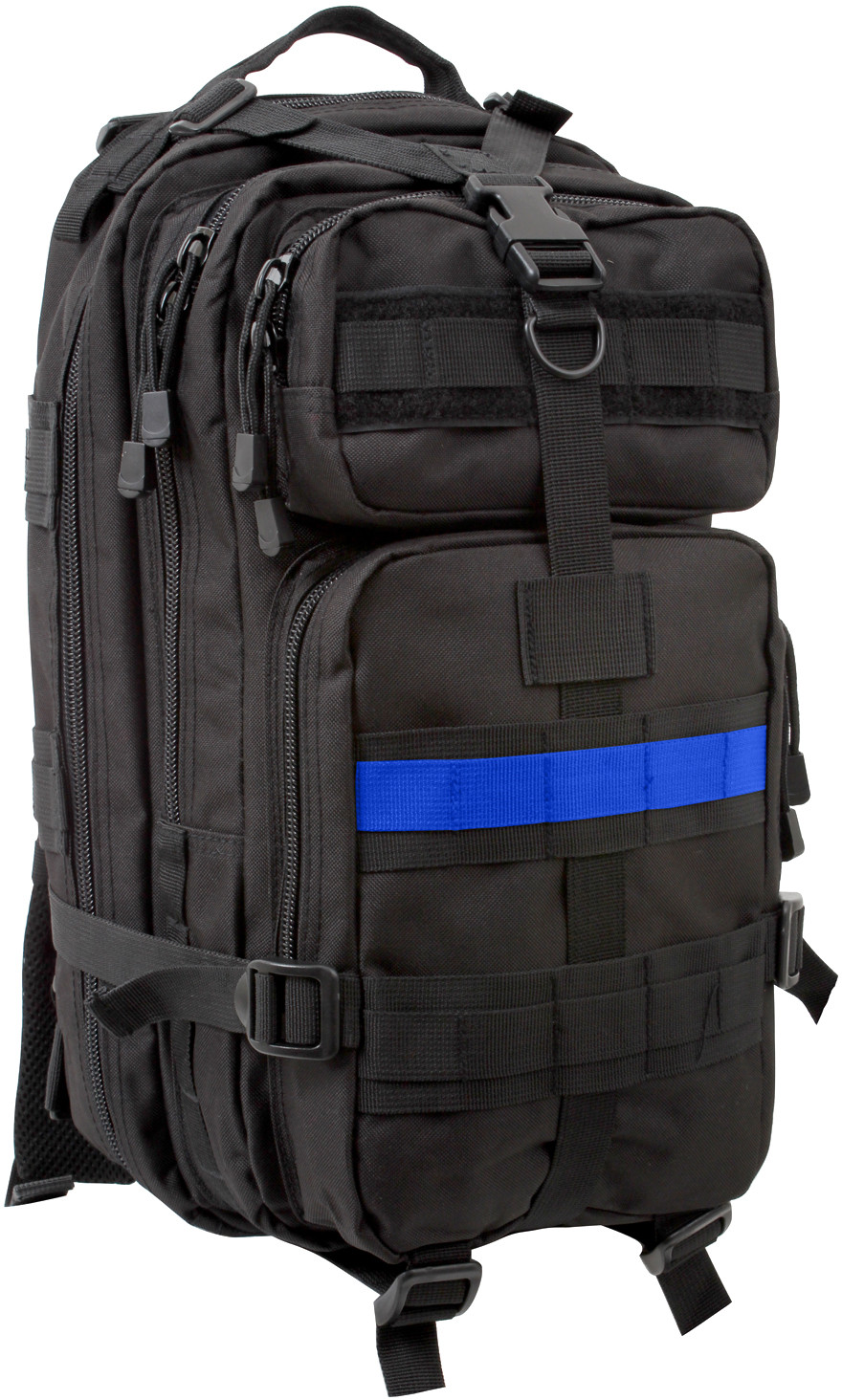 Black Support The Police Medium Transport Backpack w  Thin Blue Line f56915637e6