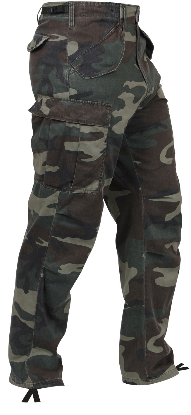 Woodland Camouflage Vintage Military M-65 Field Tactical Fatigue Pants b5f6112d877