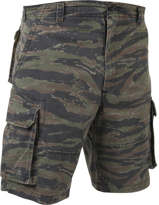 More Views. Tiger Stripe Camouflage Vintage Military Paratrooper Cargo  Shorts 606ee28df4a